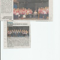 Article DL, concert à Domessin, chorale, Avressieux, avril 2016, presse