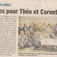 Article DL, concert à St Jean d'Avelanne, nov 2015, presse